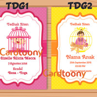 Kartu Undangan Tedhak / Tedak Siten Anak Perempuan / Baby Girl