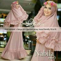Nabila Gamis Syari Spandek Jersey Pink