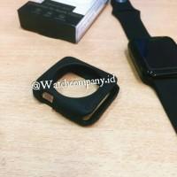 Jual Case Apple Watch iWatch Bumper Cover 38mm Black Rubber Murah