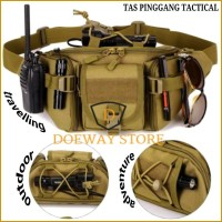 TAS PINGGANG TACTICAL ARMY TRAVELLING OUTDOOR ADVENTURE IMPORT