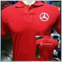 Jual kaos polo shirt,t shirt,polo tshirt mobil mercedes benz merah Murah