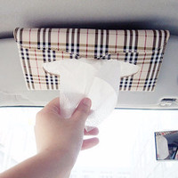 Car Vehicle Sun visor Tissue Napkin Clip Holder - Tempat Tisu Sun Viso