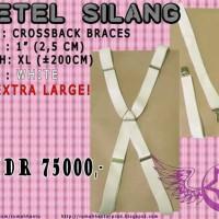 Bretel (X) Silang XL Putih