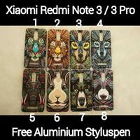 [PAKET] Xiaomi Redmi Note 3 / 3 Pro Luminous Softcase Animal Case + TG