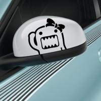 Sticker Aksesoris Spion Mobil Lucu Pooh Hello Kitty Domo Kartun