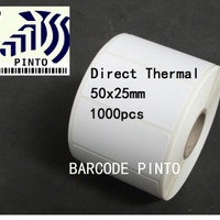 "label sticker barcode thermal 50x25 core 1"" 1 line 1000 pcs"