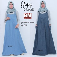 Dress Overall Jeans Muslim Wanita YUPY OVERALL