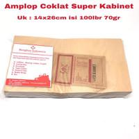 Amplop Coklat Super Kabinet 80gr isi 100lbr
