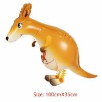 Jual Balon Foil Pet Hewan Binatang Airwalker Air Walker Kangguru Murah Murah