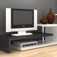 harga Anya-living Scult Tv Stand / Meja Tv / Rak Tv - Putih Glossy-hitam Tokopedia.com