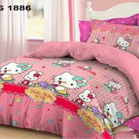 Sprei Sorong Katun Jepang Hello Kitty Tea Party 2in1
