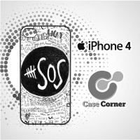 Custom Casing HP Iphone 4|4s 5 second of summer drawing pencil