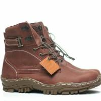 Bradleys Original Sepatu Boots Tracking Pria Full Up Leather