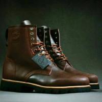 Bradleys Original Sepatu Boots Pria Kulit