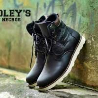 Bradleys Sepatu Boots Pria Kulit Full Up