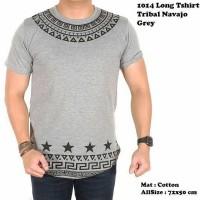 Kaos Pria 1014 Long Tshirt Tribal Navajo Grey | Murah dan Bagus