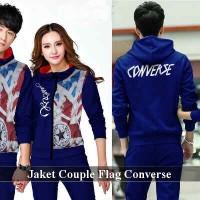 Jaket Couple | Jaket Pasangan | Jaket Tebal | Couple flag converse