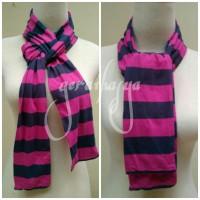 striped scarf syal shawl pink abu u pria wanita anak by L.L Bean #53