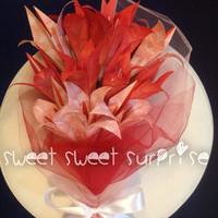 Graduation Red Lily - Buket Bunga Lili Kertas Origami