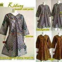 Tunik dress baju atasan batik wanita tunik kidung jumbo