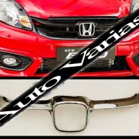 Variasi Mobil Brio 2016 Cover Grill Chrome (Model Sporty)