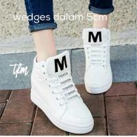 Jual Sneakers Wedges M Fashion Putih Murah