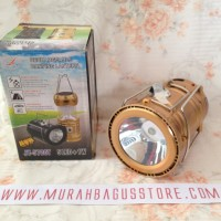 EMERGENCY LENTERA TARIK SOLAR POWERBANK SENTER LAMPU CAMPING LED MINI