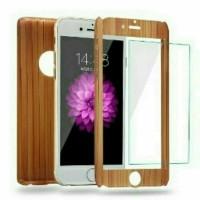 Case 360 Motif Wood Xiaomi Mi 5S Plus/Slim Hard Full Bo Berkualitas