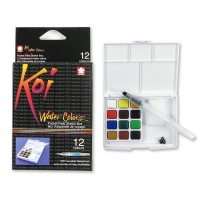 Sakura Koi Watercolor 12 Warna Field Sketch Pocket Box Set Water Color
