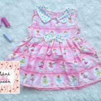 Dress Katun Anak Ballerina Polka Murah Adem Cerah