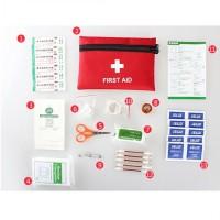 Jual First Aid Kit Kotak P3K Medis Lengkap plus pouch Murah