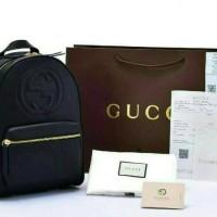 Tas Wanita Ransel Gucci Kulit Sapi Asli Original Authentic FullSet