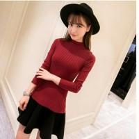Harga daisy salur turtleneck maroon baju atasan | antitipu.com