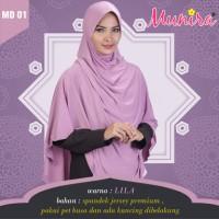 Jilbab/Hijab/Kerudung/Bergo Munira MD 01 Lila Size S-M-L