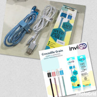 harga Kabel Data Invigo Micro Usb Crocodile Grain Motif Kulit Buaya Original Tokopedia.com