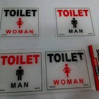 label TOILET tulisan + gambar untuk Kamar Mandi (WC) pria & wanita