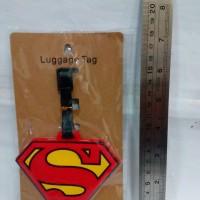 Luggage Tag / Name Bag ID Superman / Tempelan label Koper (Tas Travel)