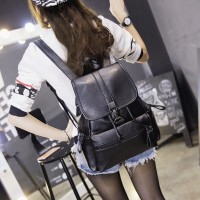 Washed Leather Leisure Bag (BLACK) - 0565