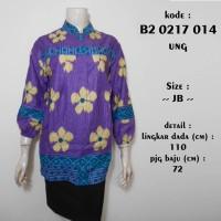 blus batik B20217014ung / atasan kerja muslim jumbo bigsize lurik ungu