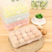 Kotak box telur telor isi 15 pcs sekat egg organizer rapi - HKN225