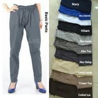 Celana Basic/Beige Katun stretch , Celana Kerja wanita