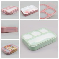 Jual Yooyee Kotak Makan Grid Bento Lunch Box 4 Sekat Anti Bocor (FP000578) Murah