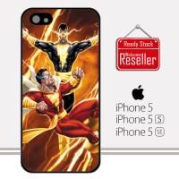Captain Marvel vs Black Adam X2118 iPhone 5, 5S, SE Casing Custom Har