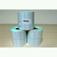 Kertas Stiker Label Barcode Semicoat 40x20mm printer transfer thermal