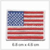 Emblem Bordir Bendera Amerika
