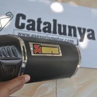 Knalpot Racing R25 / MT25 Akrapovic Sirip Fiber Karbon Catalunya Racing