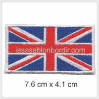 Emblem Bordir Bendera Inggris