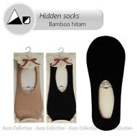 Jual Invisible Socks Fiber bamboo   Hidden socks   Boat socks  Hitam Import Murah