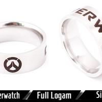 Cincin Gaming Ring Game Online Overwatch Logo Necklace Aksesoris