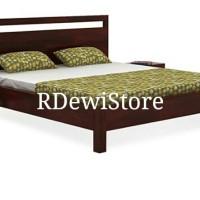 Tempat tidur, divan, dipan, ranjang, minimalis kayu Jati